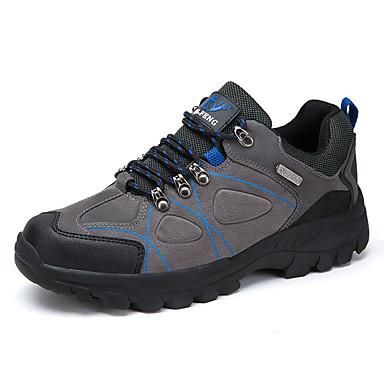Ανδρικά Παπούτσια άνεσης PU Άνοιξη Καθημερινό Αθλητικά Παπούτσια Πεζοπορία Φορέστε την απόδειξη Καφέ / Πράσινο Χακί / Γκρίζο