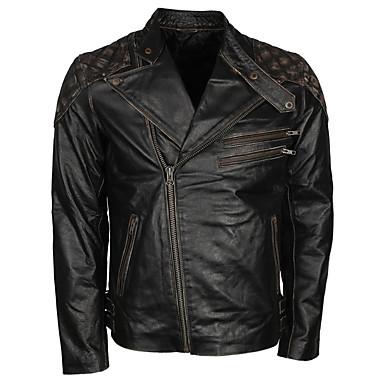 billige Motorsykkel & ATV tilbehør-vintage sort skinnlokomotiv jakke med hodeskalle mønster / slitesterkt