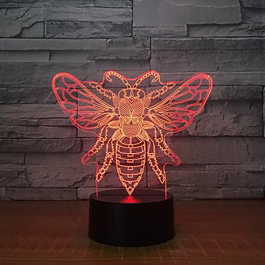 1pc 3D Nightlight USB Δημιουργικό / Γενέθλια / Με θύρα USB 5 V