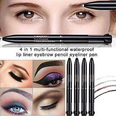 [$5 99] Press Rotating Eyebrow Pencil 4 Color 4 In 1 Waterproof Eyebrow  Pencil Eyeliner Lip Liner Lasting Natural Eye Makeup Eyebrow Enhancer