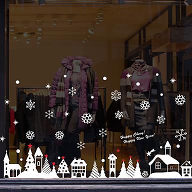 Window Film & αυτοκόλλητα Διακόσμηση Με Μοτίβο / Χριστούγεννα Γεωμετρικό / Χαρακτήρας PVC Αυτοκόλλητο παραθύρου / Αστείος
