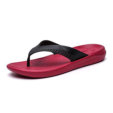Ανδρικά Παπούτσια άνεσης PU Καλοκαίρι Παντόφλες & flip-flops Μαύρο / Κόκκινο / Μπλε