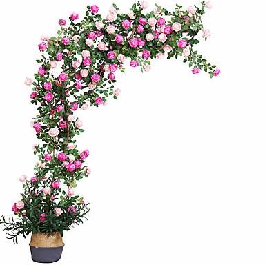 Ψεύτικα λουλούδια 14 Κλαδί Κλασσικό Σύγχρονη Σύγχρονη Αιώνια Λουλούδια Λουλούδι για Τραπέζι