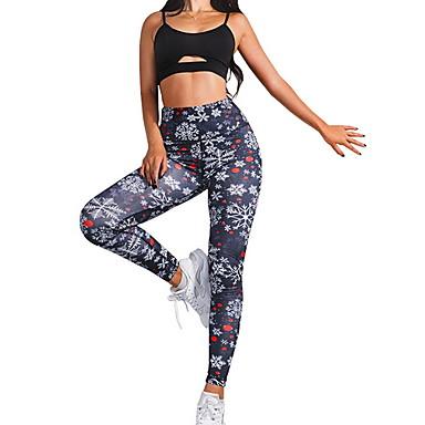 Γυναικεία Παντελόνι για γιόγκα Συνδυασμός Χρωμάτων Τρέξιμο Fitness Γυμναστήριο προπόνηση Καλσόν Ποδηλασία Ρούχα Γυμναστικής Αναπνέει Ύγρανση Γρήγορο Στέγνωμα Αντίστροφη καρότσα Λεπτό