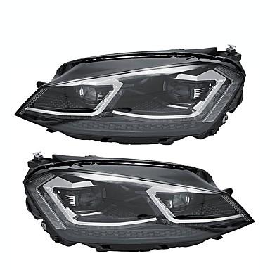 frente clara hid faróis de montagem cabeça lâmpada led drl dupla cor par para vw golf 7 mk7 2015-2017