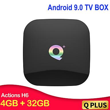 q συν έξυπνο tv κουτί 6k Android 9.0 tv κουτί 4gb ram 32gb rom h.265 usb3.0 2.4g wifi q iptv set-top box