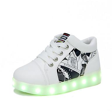 Κοριτσίστικα LED / Ανατομικό PU Αθλητικά Παπούτσια Νήπιο (9m-4ys) / Τα μικρά παιδιά (4-7ys) Λευκό / Κόκκινο Άνοιξη / Φθινόπωρο / Καοτσούκ