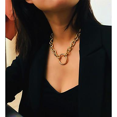 levne Pánské šperky-Pánské Dámské Stříbrná Obojkové náhrdelníky Prohlášení Náhrdelníky Tork Provaz Totemová řada XOXO Mušle Prohlášení Punk Moderní Rokové Chrome Stříbrná Zlatá Stříbrná 40 cm Náhrdelníky Šperky 1ks Pro