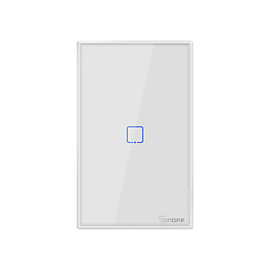 cheap Smart Switch-SONOFF T0US1C-TX 100-240V TX Series WIFI Wall Switch Smart Wall Touch Light Switch For Smart Home Work With Alexa Google Home  1CH