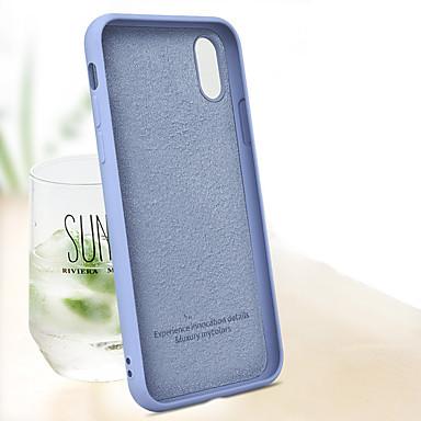 povoljno iPhone maske-Θήκη Za Apple iPhone XS / iPhone XR / iPhone XS Max Otporno na trešnju Stražnja maska Jednobojni Mekano TPU / Silikon / Pamučne tkanine