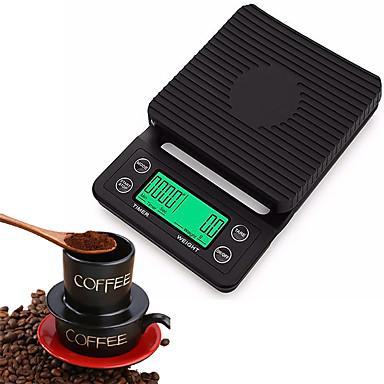 5kg Bærbar Autoslukk Multi - moduser Elektronisk kjøkkenskala Digital kaffeskala Hjemmeliv Kjøkken daglig Utendørs reise