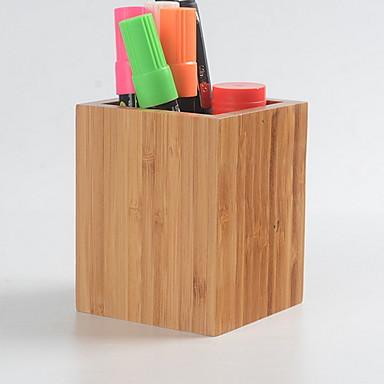 De madeira Criativo Casa Organização, 2pcs Suportes e Caixas de Canetas