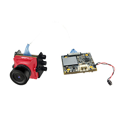 caddx skilpadde v2 1080p 60fps mini hd fpv kamera m / dvr - rød