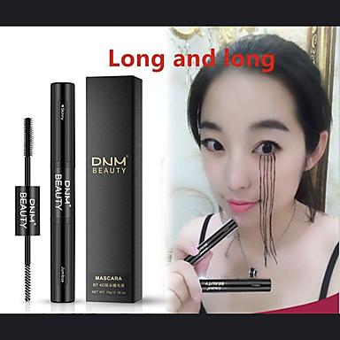 fiber mascara naturlig 4d vanntett curling svart mascara øyenvippe dobbel hode dobbel børste dobbelt kapasitet øye sminke