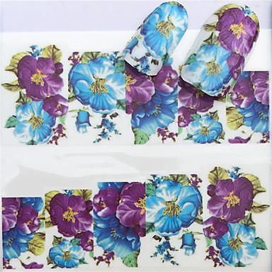 1 pcs Αυτοκόλλητα Σειρά Λουλουδιών τέχνη νυχιών Μανικιούρ Πεντικιούρ Mini Style / Ασφάλεια / Εργονομικός Σχεδιασμός Στυλάτο / Απλός