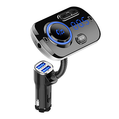 Fm transmissor bluetooth 5.0 kit handfree carro mp3 music player suporte tf card / u disco de reprodução dupla usb carga rápida bc49a