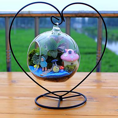 Dongguan pho_02lc hjerteformet jernramme glass hengende flaske hjerteformet jernramme 23cm + 12cm ball