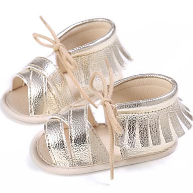 preiswerte Schuhe für Kinder-Mädchen Lauflern PU Sandalen Kleinkinder (0-9 m) / Kleinkind (9m-4ys) Silber / Fuchsia / Königsblau Sommer