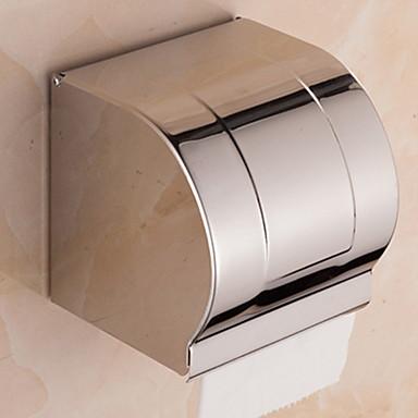 Suporte para Papel Higiênico Novo Design Modern Aço Inoxidável 1pç - Banheiro Montagem de Parede