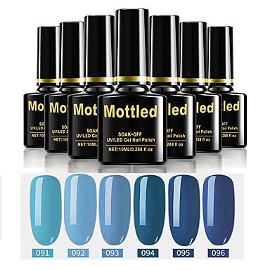 cheap Beauty & Hair-6 Pcs color 91-96 Mottled Soak-Off UV/LED Gel Nail Polish Solid Color Nail Lacquer Sets