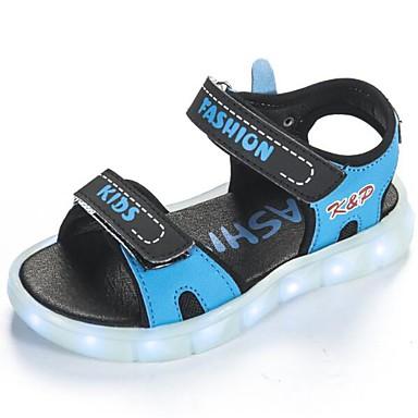 Αγορίστικα Ανατομικό / Φωτιζόμενα παπούτσια PU Σανδάλια Μεγάλα παιδιά (7 ετών +) Μαύρο / Βαθυγάλαζο / Ροζ Καλοκαίρι