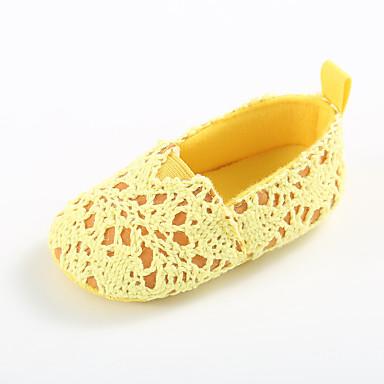 preiswerte Schuhe für Kinder-Mädchen Lauflern Gestrickt Flache Schuhe Kleinkinder (0-9 m) / Kleinkind (9m-4ys) Gelb / Fuchsia / Rosa Frühling / Sommer