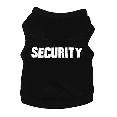 cheap Dog Clothes-Dog Shirt / T-Shirt Vest Quotes & Sayings Casual / Daily Simple Style Dog Clothes Black Costume Cotton XS S M L