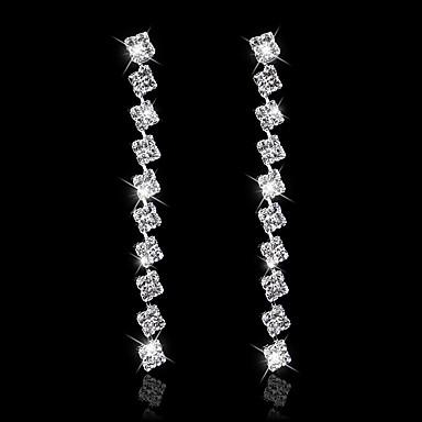 povoljno Modne naušnice-Žene Viseće naušnice Naušnica visiti Naušnice Klasičan Princeza Luksuz Europska pomodan Moda Elegantno Imitacija dijamanta Naušnice Jewelry Pink Za Vjenčanje Party godišnjica Dar Festival 1 par