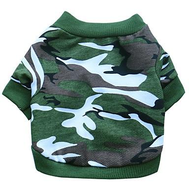Hunder Trøye / T-skjorte Vest Hundeklær Lyseblå Lys Grønn Grønn Kostume Dalmatiner Corgi Beagle Bomull Lapper Kamuflasje Farge Fritid / hverdag Enkel Stil XS S M L