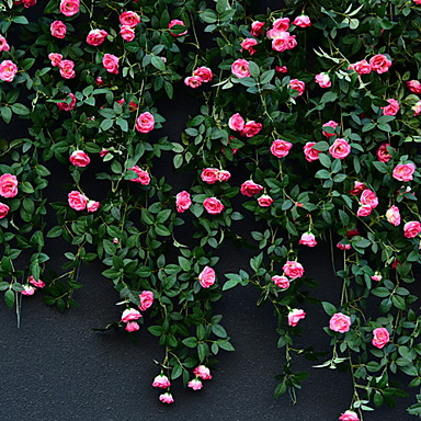 Ψεύτικα λουλούδια 1 Κλαδί Στήριξη στον τοίχο Σύγχρονη Σύγχρονη Τριαντάφυλλα Λουλούδι Τοίχου