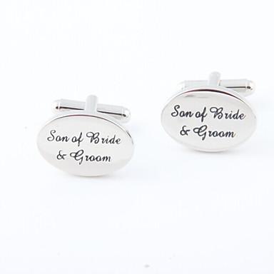 Butoni Alphabet Shape Βίντατζ Καθημερινό Κράμα Καρφίτσα Κοσμήματα Ασημί Για Γάμου Πάρτι