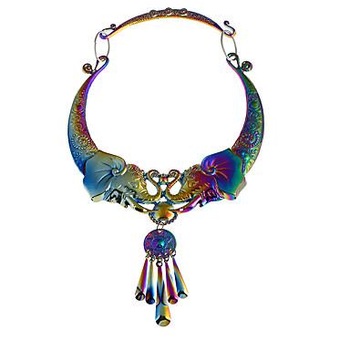 Dame Halskjede Chrome Sølv Grå Regnbue 45 cm Halskjeder Smykker 1pc Til Daglig Skole Gate Ferie Festival