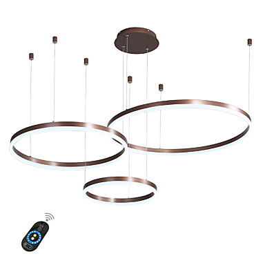 LED 60W Circle Chandelier/ LED Modern Pendant Lights For Living Room Coffee Bar Shop Room/ Small Size/ Warm White / White / Dimmable With Remote Control / WIFI Smart via Voice Control