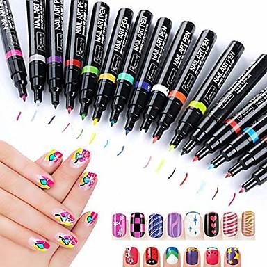 nail art penner 16 farger sett nail art penn for 3d nail art diy dekorasjon