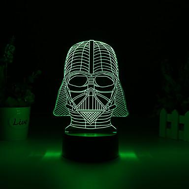 1pc 3D Nightlight USB Δημιουργικό <=36 V