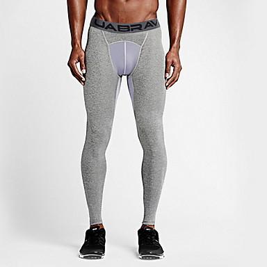 Ανδρικά Leggings de Alergat Αθλητισμός Καλσόν Ποδηλασία Τρέξιμο Μπάσκετ Fitness Ελαφρύ Αναπνέει Γρήγορο Στέγνωμα Μονόχρωμο Μαύρο Γκρίζο / Υψηλή Ελαστικότητα
