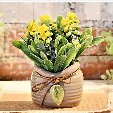 Kunstige blomster 1 Gren Klassisk Moderne Moderne Evige blomster Gulvblomst