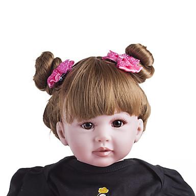 Κούκλες σαν αληθινές Μωρά Κορίτσια 24 inch Παιδικό / Εφηβικό Παιδικά Γιούνισεξ Παιχνίδια Δώρο