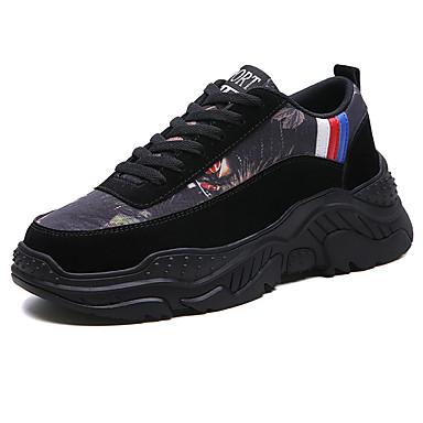Homens Sapatos Confortáveis Couro Ecológico Primavera Verão Formais / Colegial Tênis Respirável Preto / Vermelho / Cinzento / Não escorregar