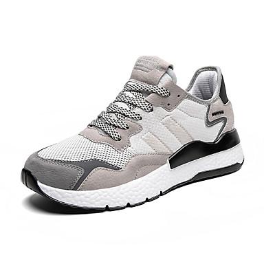 Ανδρικά Παπούτσια άνεσης Δίχτυ Ανοιξη καλοκαίρι / Φθινόπωρο & Χειμώνας Αθλητικό / Καθημερινό Αθλητικά Παπούτσια Τρέξιμο / Περπάτημα Λευκό / Μαύρο / Γκρίζο