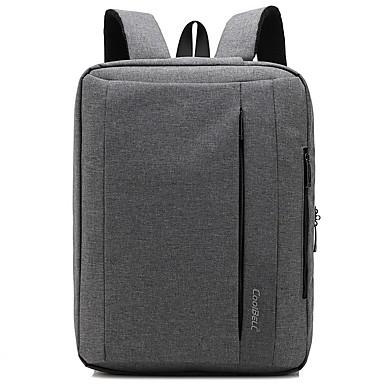 Μεγάλη χωρητικότητα Νάιλον Φερμουάρ Σχολική τσάντα Καθημερινά Μαύρο / Γκρίζο / Βυσσινί