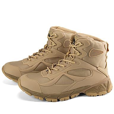 Ανδρικά Μπότες στην έρημο Νάπα Leather Καλοκαίρι / Ανοιξη καλοκαίρι Αθλητικό / Κλασσικό Μπότες Πεζοπορία / Περπάτημα Μη ολίσθηση Μπότες στη Μέση της Γάμπας Μαύρο / Καφέ