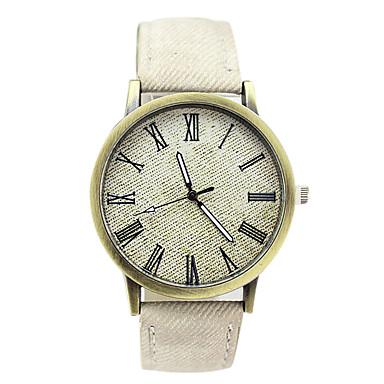 preiswerte Klassische Uhren-Uhr Kleideruhr Leder Analog Weiß Blau / Edelstahl