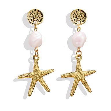 povoljno Modne naušnice-Žene Viseće naušnice fantazija morska zvijezda Tropical Romantični Naušnice Jewelry Zlato Za Dar Festival 1 par