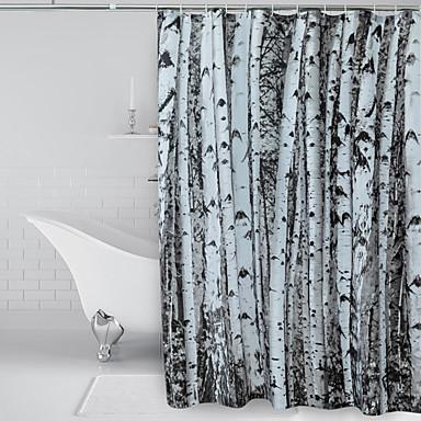 Κουρτίνες Ντους Μοντέρνα Πολυεστέρας Μηχανοποίητο Αδιάβροχη Μπάνιο