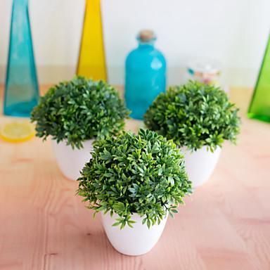 1pc εργοστάσιο προσομοίωσης bonsai 32-mesh μπαμπού γρασίδι διακόσμηση λουλούδι μπάλα χόρτο σφαίρα γλάστρες σπίτι διακόσμηση μικρά στολίδια