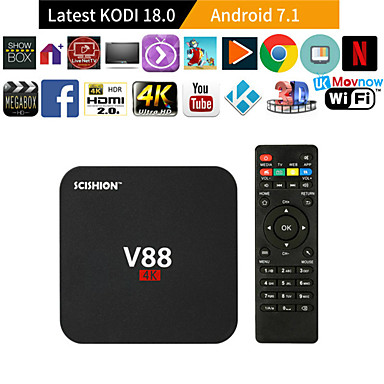 cheap TV Boxes-V88 RK 3229 Smart TV Set Top Box 1GB8GB Android 5.1 TV 4K Set Top Box WiFi Box MINI for Smart TV with 4 USB Port for 3D Movie