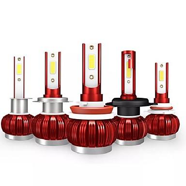 Kingsofe k1 levou faróis do carro lâmpada h4 h7 nevoeiro lâmpada h1 h11 9005 9006 50 w 3600lm 6000 k branco 2 pcs