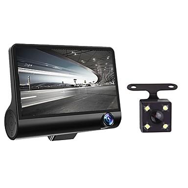 billige Bil-DVR-4 1080p hd 170 3 linse bil dvr dash cam g-sensor opptaker bakre kamera