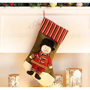 ตกแต่งวันคริสมาสต์ กระเป๋าของขวัญ Socks Santa Suits Elk สนุก สิ่งทอ สำหรับเด็ก Toy ของขวัญ